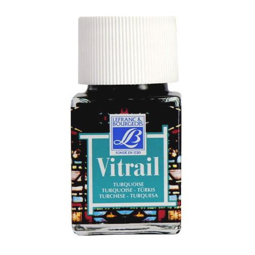Витражная краска Vitrail, 50 мл,  050 бирюзовый