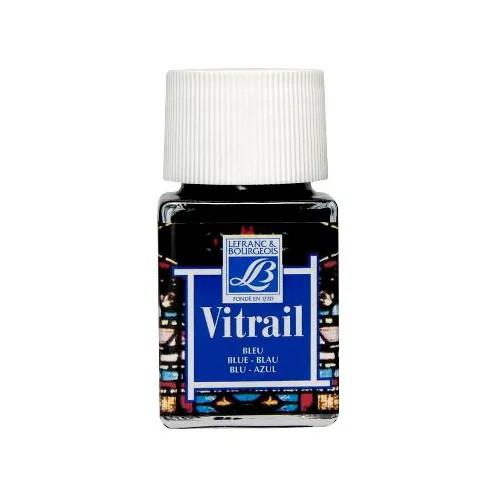 Витражная краска Vitrail, 50 мл,  025 синий